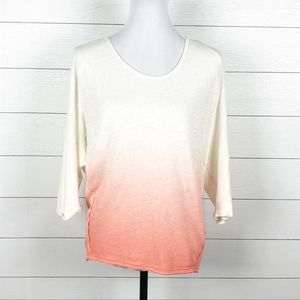 NEW Free People Linen Strawberry Ombre Dolman Top